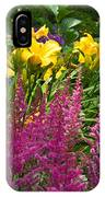 Astilbe And Lilies IPhone Case