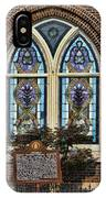 Athens Alabama First Presbyterian Church Stained Glass Window IPhone Case