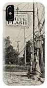 Atlantic White Flash IPhone Case