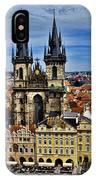 Atop The Clock Tower - Prague IPhone Case