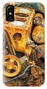 Auto Engine Block From A Wrecked Car IPhone Case