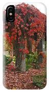 Autumn Arbor In Grants Pass Park IPhone Case