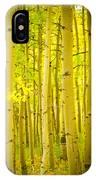 Autumn Aspens Vertical Image  IPhone Case