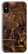 Autumn At The Waterfall In The Ravine In Central Park IPhone Case