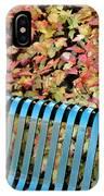 Autumn Blue Bench IPhone Case