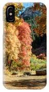 Autumn Campground In Blacksmith Fork Canyon - Utah IPhone Case