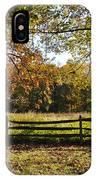 Autumn Field In Pennsylvania IPhone Case