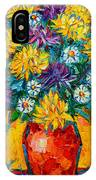 Autumn Flowers Gorgeous Mums - Original Oil Painting IPhone Case