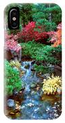 Autumn Garden Waterfall I IPhone Case