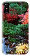 Autumn Garden Waterfall II IPhone Case