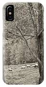Autumn Grazing 2 Sepia IPhone Case
