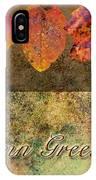 Autumn Greeting Card IIi IPhone Case