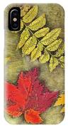 Autumn Leaf Collage IPhone Case