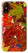 Autumn Leaves Collage IPhone Case