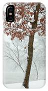 Autumn Leaves In Winter Snow Storm IPhone Case