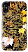 Autumn Leaves On Straw On Water IPhone Case