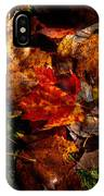 Autumn Leaves On The Moss IPhone Case