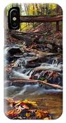 Autumn Moving Water With Foliage IPhone Case
