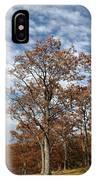 Autumn Oaks White Clouds IPhone Case