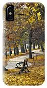Autumn Park In Toronto IPhone Case