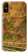 Autumn  Road To The Ranch IPhone Case