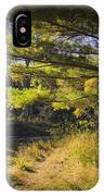 Autumn Scene Of The Little Manistee River In Michigan No. 0882 IPhone Case