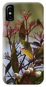 Autumn Snow Berry Bush IPhone Case
