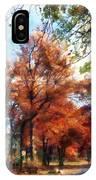 Autumn Street Perspective IPhone Case