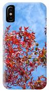 Autumn Trees Art Prints Blue Sky White Clouds IPhone Case