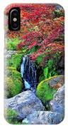 Autumn Waterfall - Digital Art IPhone Case