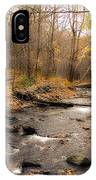 Babbling Brook In Autumn IPhone Case