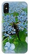 Baby Blue Lace Cap Hydrangea IPhone Case