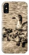 Baby Ducks - Sepia IPhone X Case