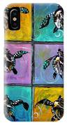 Baby Sea Turtles Six IPhone Case
