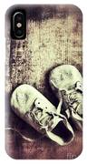 Baby Shoes On Wood IPhone Case