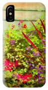 Backyard Flower Garden IPhone Case