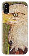 Bald Eagle Embroidered IPhone Case