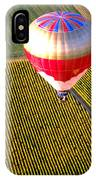 Ballooning Over Burgundy IPhone Case