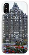 Banff Springs Hotel In The Canadian Rocky Mountains IPhone Case
