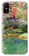 Barn And Pond In The Fall IPhone Case