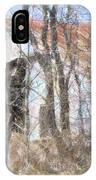 Barn Through Trees IPhone Case