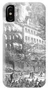 Barnums Museum Fire, 1865 IPhone Case