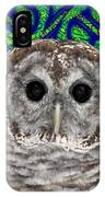 Barred Owl In A Fractal Tree IPhone Case