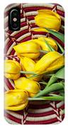 Basket Full Of Tulips IPhone Case