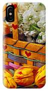 Basket Of Spring Flowers IPhone Case