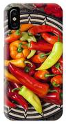 Basketful Of Peppers IPhone Case