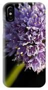 Beautiful Purple Flower Allium Senescens IPhone Case