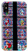 Beautiful Stained Glass At Notre Dame Cathedral IPhone Case