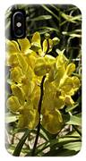 Beautiful Yellow Flowers Inside The National Orchid Garden In Si IPhone Case