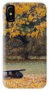Bench In The Autumn Landscape IPhone Case